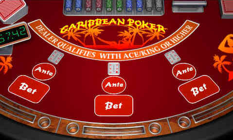 Play Caribbean Stud Video poker at Casino.com UK