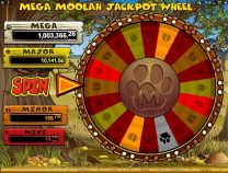 mega moolah slot screen