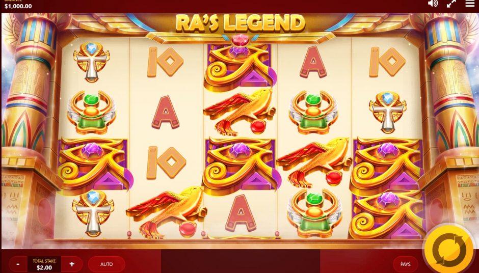 Ra's legend slot machine screenshot big